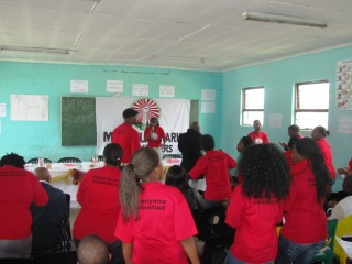 Mandela Park Anti Vote Summit took place on Saturday with activists and community members from across the township.